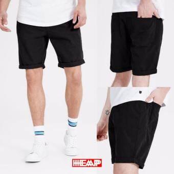 กางเกงขาสั้น HEAP รุ่น 05 สีดำ 100%Cotton ส่งตรงจากโรงงาน