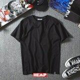 ราคา เสื้อยืดเนื้อดี Heap รุ่นTs02 สีดำ ผ้าฝ้าย 100 Cotton สีไม่ตก ไม่ย้วย Heap