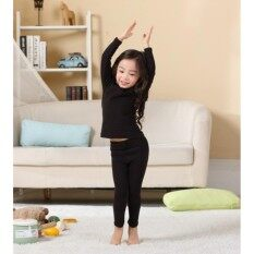 ขาย ลองจอน ชุดลองจอน Heattech สีดำ เด็กผู้หญิง มีให้เลือกซื้อ 6 ช่วงอายุ 4 6 8 10 12 14 ปี ออนไลน์ ใน กรุงเทพมหานคร