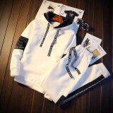 ขาย กีฬาที่เดินทางมาพักผ่อนชุดฤดูใบไม้ร่วง Hedging ผู้ชายเสื้อยืดคลุมด้วยผ้าเสื้อ Tz668 สีขาว เสื้อผ้า กางเกง