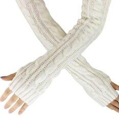 ขาย กัญชาดอกไม้ลายนิ้วมือถักถุงมือยาวสีขาว Unbranded Generic ออนไลน์