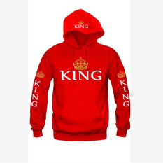 ขาย Hengsong Men Hooded Long Sleeve Hooded Neck King Letter Couple Blouses Red ออนไลน์ จีน