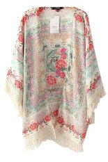 ราคา Hengsong ผู้หญิงวินเทจดอกไม้พิมพ์ Cardigan หลากสี ใหม่