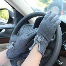 Hengsong Women Winter Touch Screen Velvet Warm Gloves Gray Intl ใหม่ล่าสุด