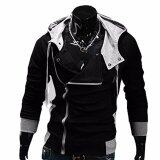 Hequ Aliexpress Explosion Of Assassin S Creed Sweater Oblique Zipper Hooded Jacket Men S W20 Black Int Xxl Intl เป็นต้นฉบับ