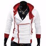 ราคา Hequ Aliexpress Explosion Of Assassin S Creed Sweater Oblique Zipper Hooded Jacket Men S W20 White Int Xxl Intl Hequ ออนไลน์