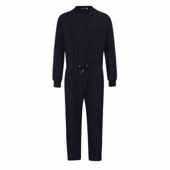 Hequ ฤดูใบไม้ร่วงแขนยาว Jumpsuit กางเกงลำลอง Rompers SLIM FIT ปาร์ตี้หลวมกางเกง Boy สีดำ