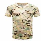 ราคา Hequ Camouflage T Shirt Men Breathable Army Tactical Combat T Shirt Military Dry Camo Camp Tees Top H02 Intl เป็นต้นฉบับ