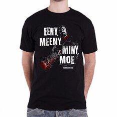 ความคิดเห็น Hequ แฟชั่นเสื้อยืดเดินตายเสื้อยืด Negan Lucille Eeny Meeny Miny Moe ผู้ชายดำดำ นานาชาติ