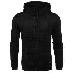 ขาย ซื้อ ออนไลน์ Hequ Hoodies Men Male Long Sleeve Black Color Hooded Sweatshirt Hoodie Tracksuit Sweat Casual Tops Intl