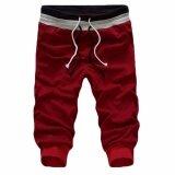 ซื้อ Hequ กางเกงกีฬาผู้ชายเต้นรำ Baggy Jogger กางเกงลำลองกางเกงขาสั้นกางเกงขาสั้นกระโปรงกางเกงสีแดง นานาชาติ Hequ เป็นต้นฉบับ