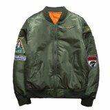 ซื้อ Hequ New Chic High Quality Winter Army Green Military Red Varsity Flight Jacket Pilot Air Force Men Bomber Jacket Men Army Green Intl ใหม่ล่าสุด