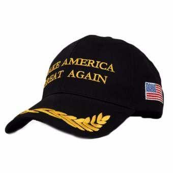 Hequ new chic Popular Hat Make America Great Again Hat Republican Hat / Cap Casual Black - intl-