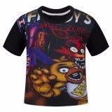 ขาย ซื้อ Hequ New Fnaf Five Nights At Freddy S Boys Girls Unisex Kids T Shirts Children Tees T Shirt Tops Black Intl สมุทรปราการ