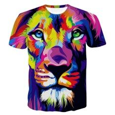 Hequ New Fashion Men/Women 3d T-shirt Print Lovely Unicorn Standing On Clouds