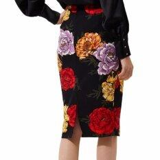 ขาย Hequ Summer G*rl Skirt Flower Daisy Printed Knee Length Women Pencil Skirt Black Intl ออนไลน์ ฮ่องกง