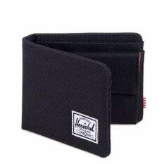 ราคา Herschel Supply Roy Coin Black Wallet ใหม่ ถูก