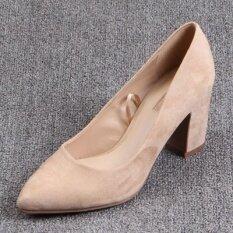 โปรโมชั่น ระดับ High End ส้นสูงรองเท้าเดียวฤดูใบไม้ผลิและฤดูใบไม้ร่วงใหม่ สีเบจ