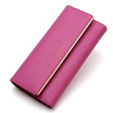 ส่วนลด High Quality Genuine Leather Lady Women Purse Clutch Wallet Long Card Holder Bag Intl