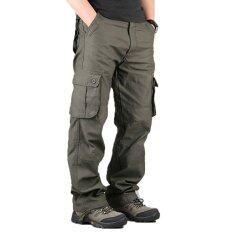 ขาย High Quality Men S Cargo Pants Casual Mens Pant Multi Pocket Military Overall Men Outdoors Long Trousers 30 44 Plus Size Army Green จีน