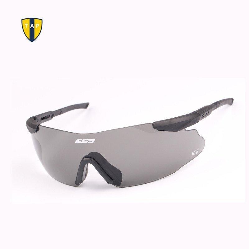 ทหารคุณภาพสูง ESS ความปลอดภัยแว่นตาปั่นจักรยานยุทธวิธีแว่นตาทหารกลางแจ้งเกมสงครามการล่า 3 คู่เลนส์สีดำ - INTL
