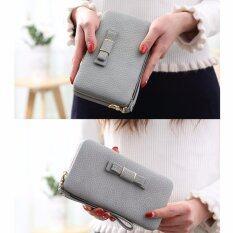 ราคา High Quality Women S Fashion Purse Car Holder Wallet A 817Gray Intl ใหม่ ถูก