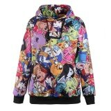 ส่วนลด 【High Quality】Adventure Time Printed Hooded Sweatshirt Moletom Sport Suit Hoodie Intl จีน