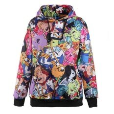 ขาย ซื้อ 【High Quality】Adventure Time Printed Hooded Sweatshirt Moletom Sport Suit Hoodie Intl