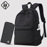 ซื้อ Hk ชายที่เดินทางมาพักผ่อนกระเป๋าเดินทางกระเป๋าคอมพิวเตอร์กระเป๋าสะพายไหล่ มาตรฐานรุ่นสีดำเย็นแพคเกจ