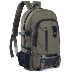 โปรโมชั่น Hm กระเป๋าเป้สะพายหลัง กระเป๋าแบ็คแพ็ค รุ่น030 สีเขียวขี้ม้า ใน กรุงเทพมหานคร