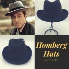 ซื้อ Homberg Hats Al Pacino Hats Handmade 100 Wool หมวกทรงฮอมเบิร์ก ใหม่