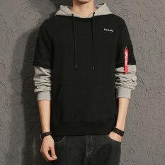ขาย เสื้อมีฮู้ดแขนยาวของผู้ชาย สไตล์เกาหลีสีดำ สีเทาเข้ม สีเทาอ่อน สีดำ สีดำ ออนไลน์ ฮ่องกง