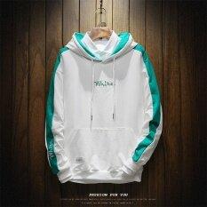 ทบทวน คลุมด้วยผ้าเสื้อเกาหลีชายคลุมด้วยผ้าเสื้อกันหนาวฤดูใบไม้ร่วง W17139 สีขาว Unbranded Generic