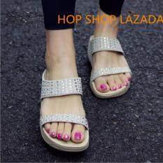 รองเท้าแตะ รองเท้าหญิง รองเท้าแตะหญิง  รองเท้าแฟชั่น  เพื่อสุขภาพ เบา นุ่ม ใส่สบาย เพื่อสุขภาพสไตล์ยุโรป.