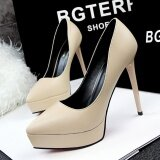 ซื้อ Hot Fashion High Heeled Shoes S*xy Thin Heels Woman Pumps Platform Heel Ladies Wedding Shoes Pointed Toe Closed Toe Women Shoes High Heels Intl ใหม่ล่าสุด