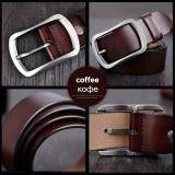 New 100/% cowhide genuine leather belts for men brand strap male pin buckle solid