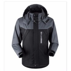 ซื้อ Hot Sale Fashion Mens Casual Sport Coat Women Waterproof Windproof Outdoorwear Mountain Snow Jacket Youth Winter Jacket Overcoat Plus Size M 5Xl Black Intl ถูก