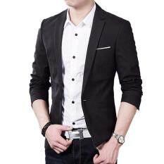 ราคา Hot Sale Men S Autumn Clothing Costume Jacket Blazer Cardigan Suits Jackets Coat Black Intl