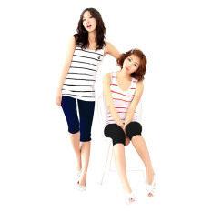 ราคา Hotdeal Set 2 ตัว เลกกิ้ง นาโน ขาสั้น Legging Nano Colorful สีดำ กรม