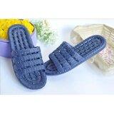 ขาย ซื้อ Household Slippers For Men And Women Soft Bottom Hollow Out Antiskid Slippers Deep Blue Intl