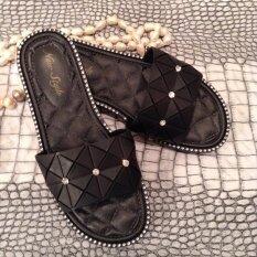ซื้อ Hpb รองเท้าแฟชั่น แตะยางนิ่ม สีดำ ใหม่