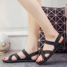 Hpb รองเท้ายางรัดส้น สีดำ.