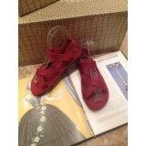 ส่วนลด สินค้า Hpb รองเท้ายางรัดส้น สีแดงทับทิม