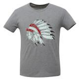 ซื้อ Huaways Men S Fashion Indian Head Sculpture Design Emboidery Short Sleeve T Shirt Gray Intl Unbranded Generic ออนไลน์