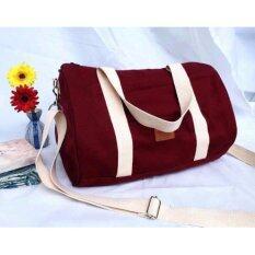 ซื้อ Human Palette กระเป๋าสะพายไหล่ สะพายข้าง ทรงกระบอก รุ่น Duffle สีแดง ออนไลน์ กรุงเทพมหานคร
