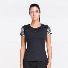 ซื้อ I ลำลองลำแสงหลายสีแขนสั้นเสื้อยืดออกกำลังกายเสื้อผ้า ลำแสงสีขาว ใน ฮ่องกง
