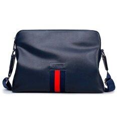 ราคา กระเป๋าเป้สะพายหลังเกาหลีหนังนิ่มกระเป๋าธุรกิจของผู้ชาย 1829 สีฟ้า เป็นต้นฉบับ