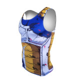 ขาย กีฬา 3D ญี่ปุ่นอะนิเมะพิมพ์ออกกำลังกายแน่นกระชับเสื้อผ้า รบความเสียหาย Vegeta เสื้อกั๊ก D027 เป็นต้นฉบับ