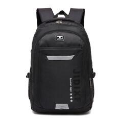 ขาย เกาหลีนักเรียนมัธยมชายเดินทางความจุขนาดใหญ่ถุงสบายๆ I กระเป๋าเป้สะพายหลัง สีดำ Unbranded Generic
