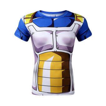 เจ็ดดราก้อนบอลเสื้อยืด Wukong ผัก Saiyan แขนสั้นเสื้อยืดเจ็ดดราก้อนบอล cos เสื้อผ้าแห้งเร็วระบายอากาศเสื้อ